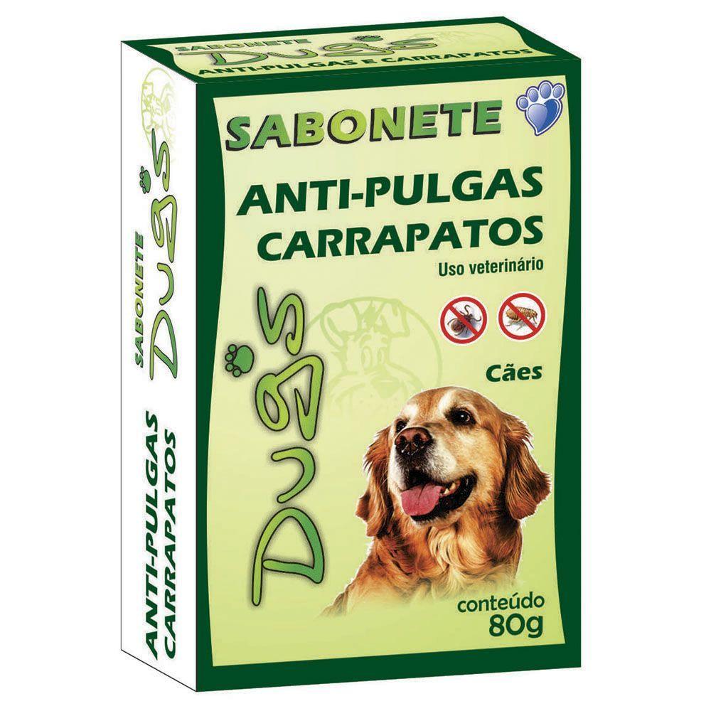 Dug´s Sabonete Cães 80gr Antipulgas E Carrapatos