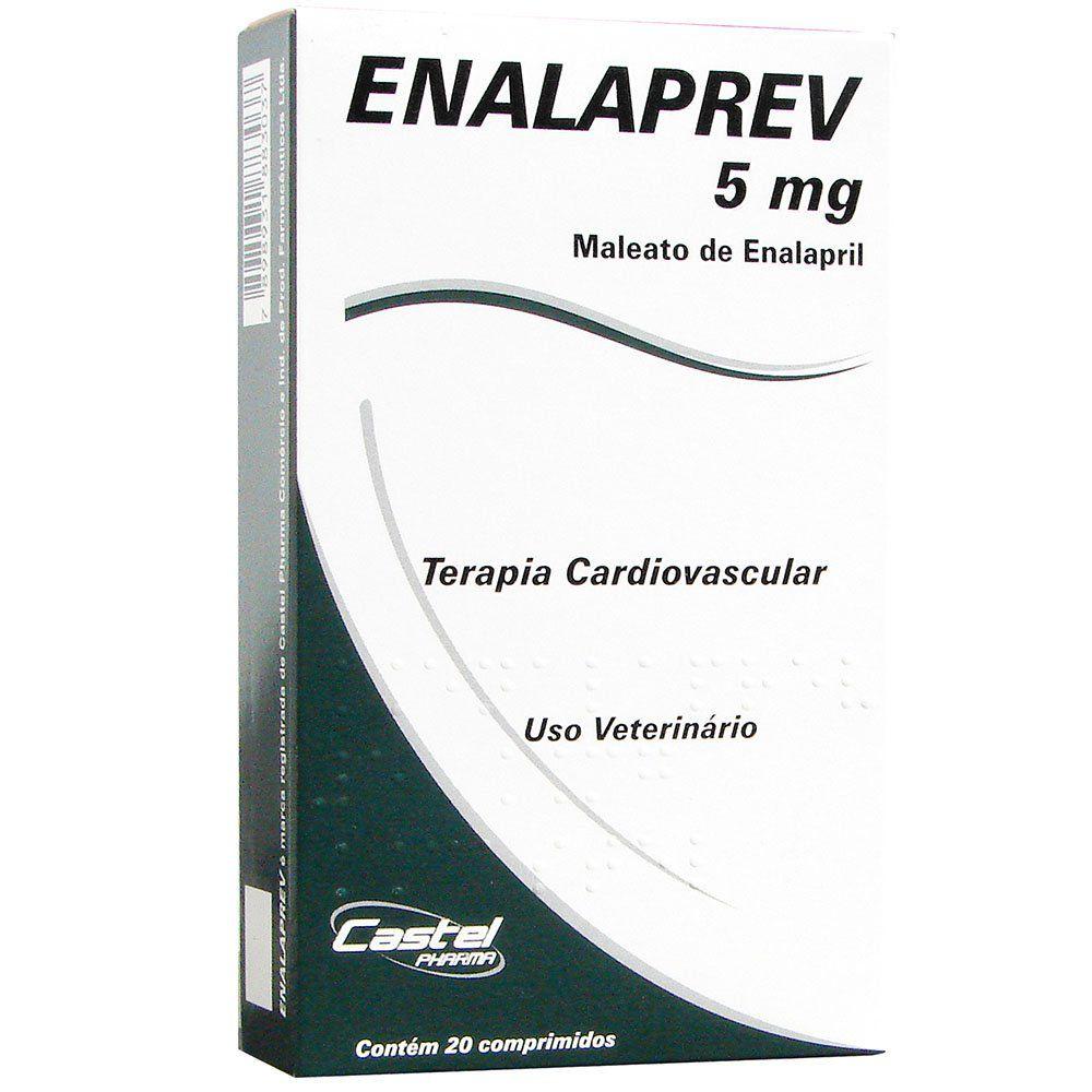 Enalaprev 5mg (Vasodilatador) - 20 Comprimidos