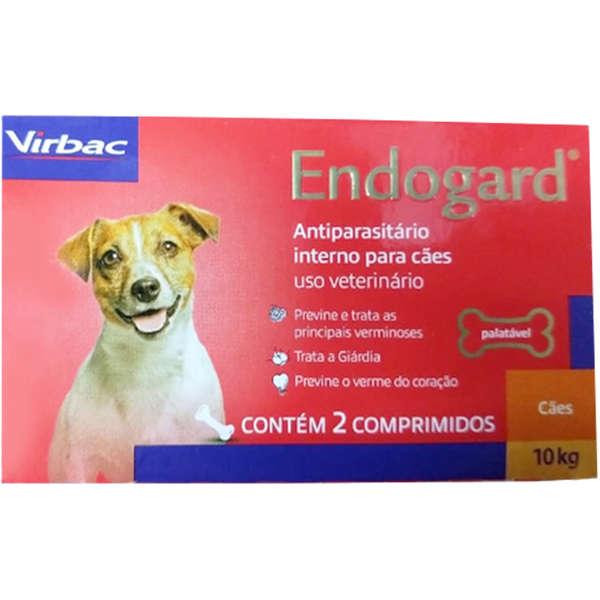 Endogard Vermífugo Cães até10 kg com 2 comprimidos