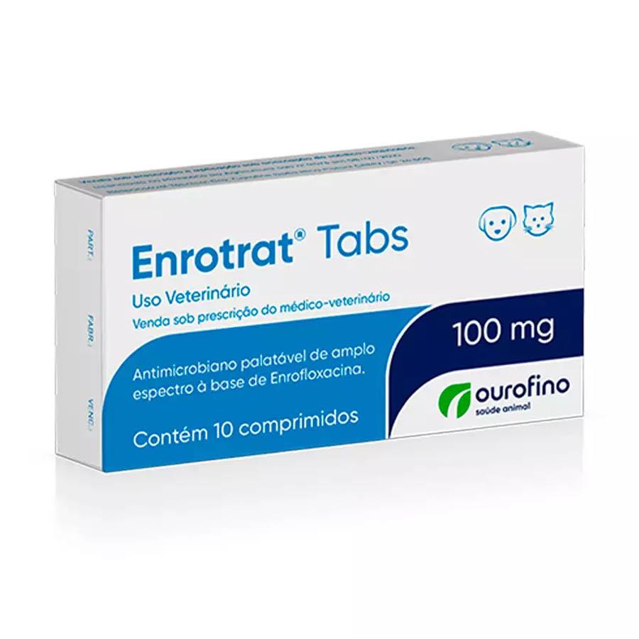 Enrotrat Tabs Ourofino 100 mg 10 Comprimidos  Enrofloxacina