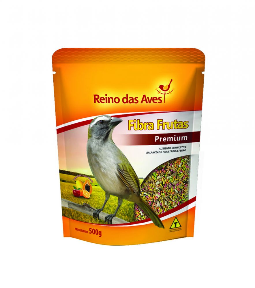 Fibra Frutas Premium 500g - Reino Das Aves