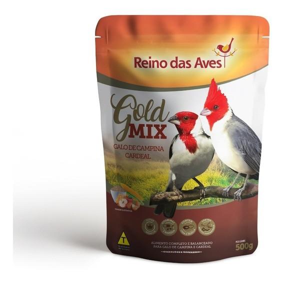 Galo De Campina E Cardeal Gold Mix 500g - Reino das Aves