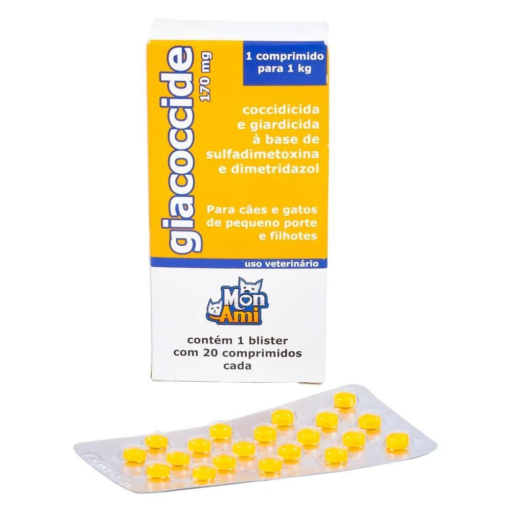 Giacoccide 170 Mg Tratamento Giardia Cães E Gatos