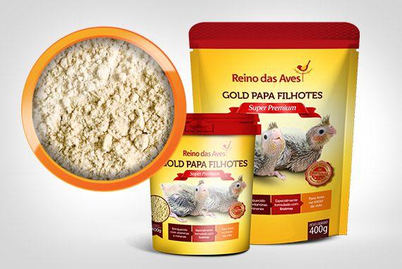 Gold Papa Filhotes 400g Refil - Papinha para Pássaros - Reino das Aves