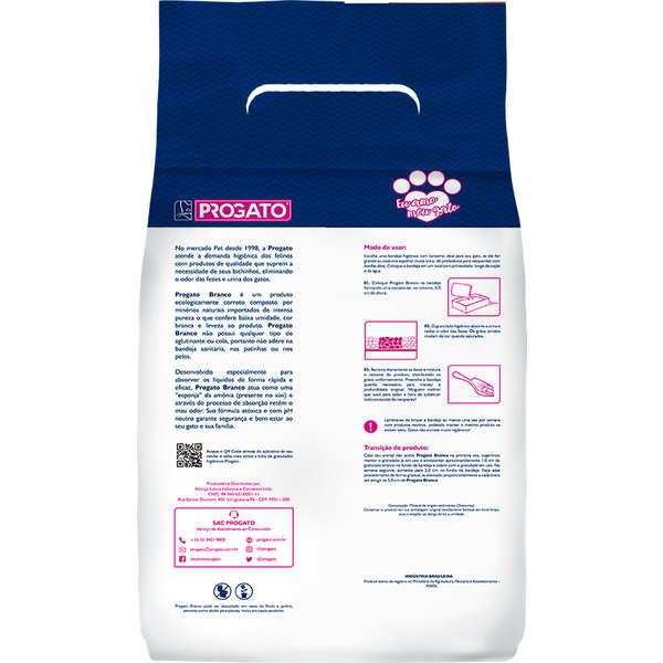 Granulado Sanitário ProGato Bianco 1,8Kg
