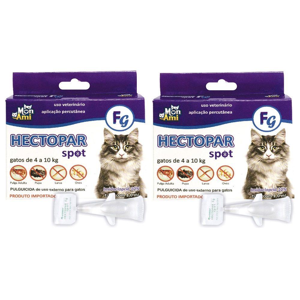 Hectopar Fg Antipulga para Gato de 4 a 10 kg Kit com 2