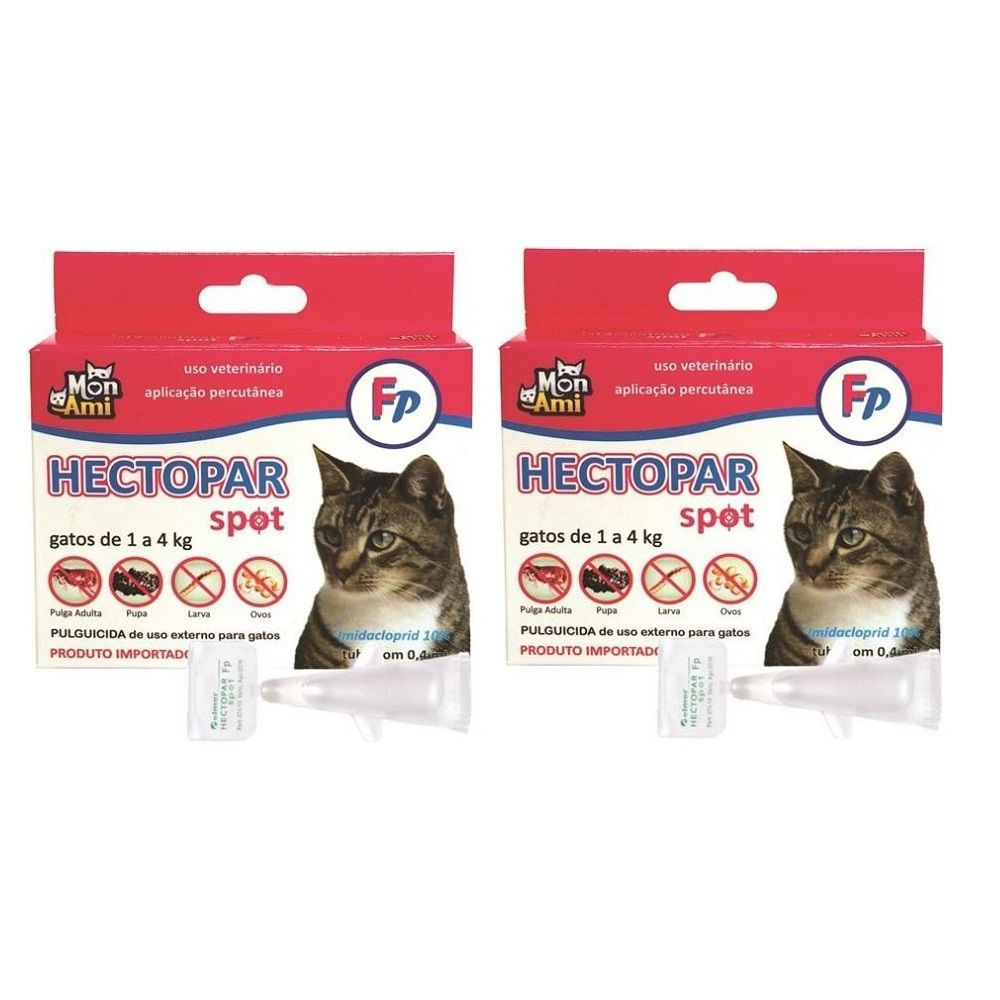 Hectopar Fp Antipulga para Gato de 1 a 4 kg Kit com 2