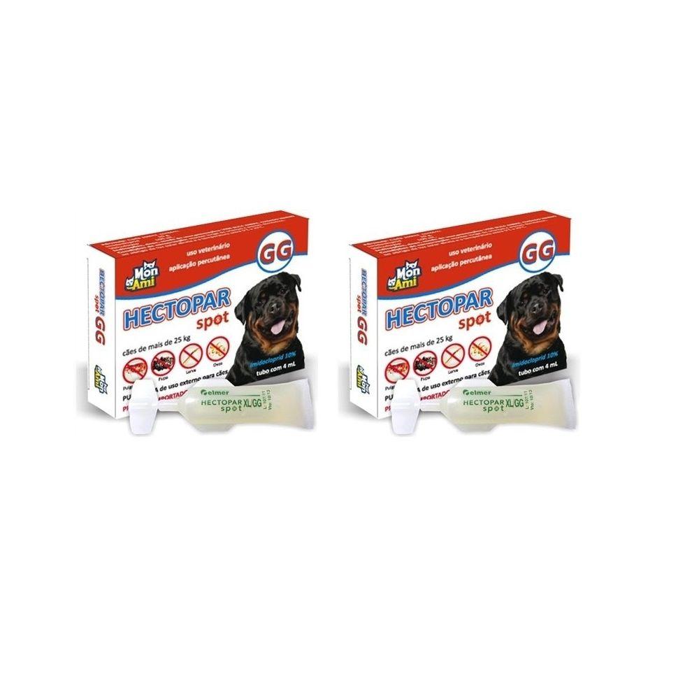 Hectopar GG Antipulga para Cão + de 25 Kg Kit com 2 unidades.