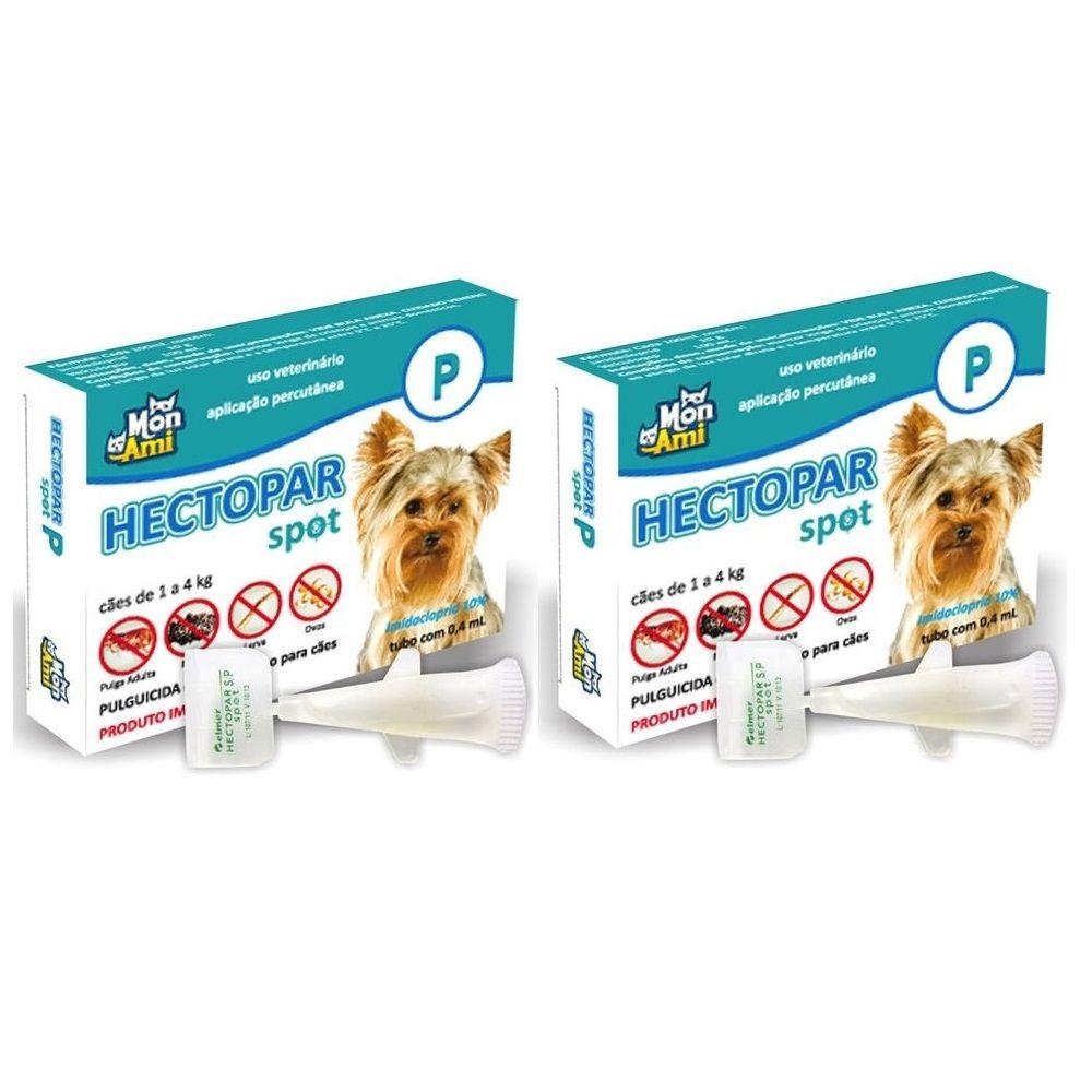 Hectopar para Antipulga para Cão de 1 a 4 kg Kit com 2