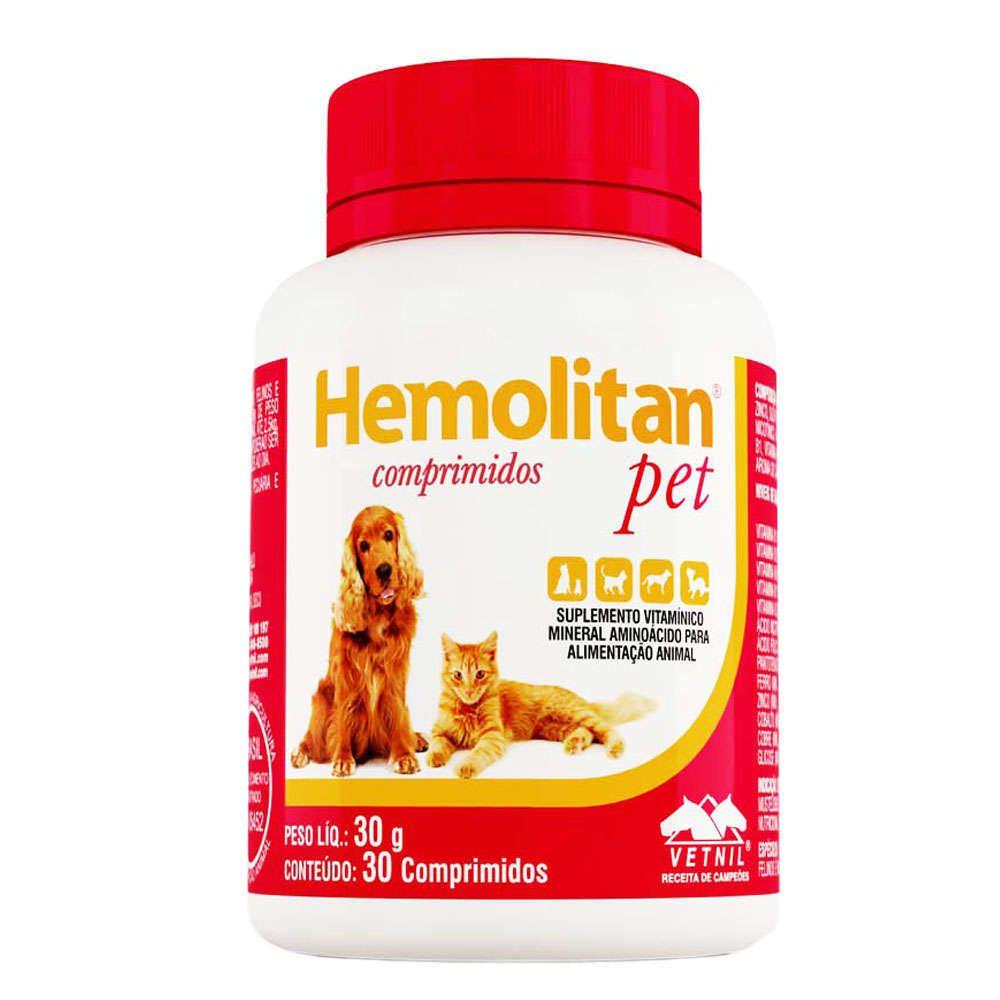 Suplemento Hemolitan Pet Vetnil 30 comprimidos