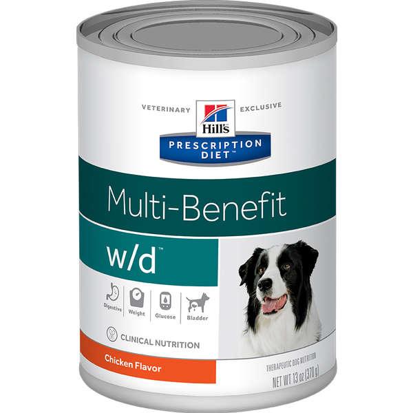Lata Prescription Diet Canine W/d Hill's Controle de Peso para Cães 370g