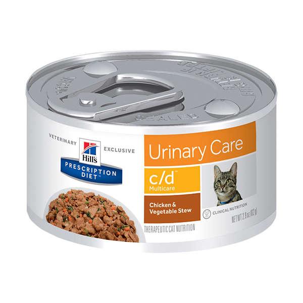 Lata Prescription Diet Feline C/d Hill's Cuidado Urinário Frango para Gatos  82g