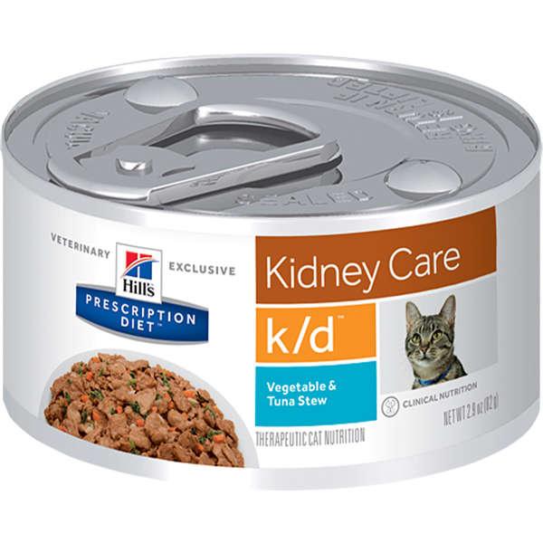 Lata Prescription Diet Feline K/d Hill's Cuidado Renal Atum para Gatos  82g
