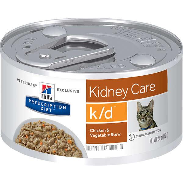 Lata Prescription Diet Feline K/d Hill's Cuidado Renal Frango para Gatos  82g