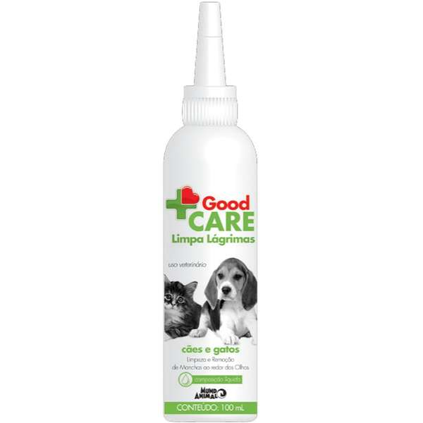 Limpa Lágrimas Mundo Animal Good Care para Cães e Gatos - 100 mL