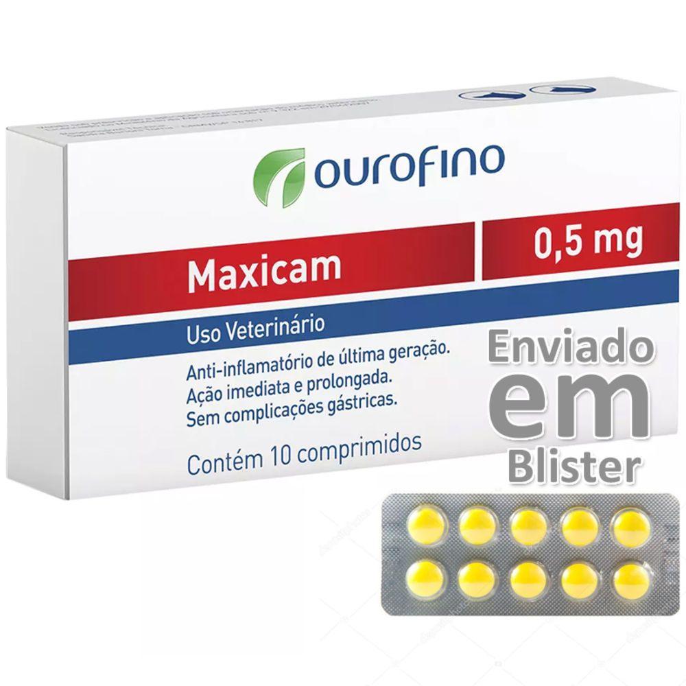 Maxicam 0.5 Mg Anti-inflamatório Blister Com 10 Comprimidos