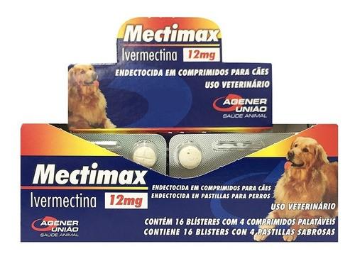 Mectimax Agener União 12mg Ivermectina - 1 blister com 4 comprimidos