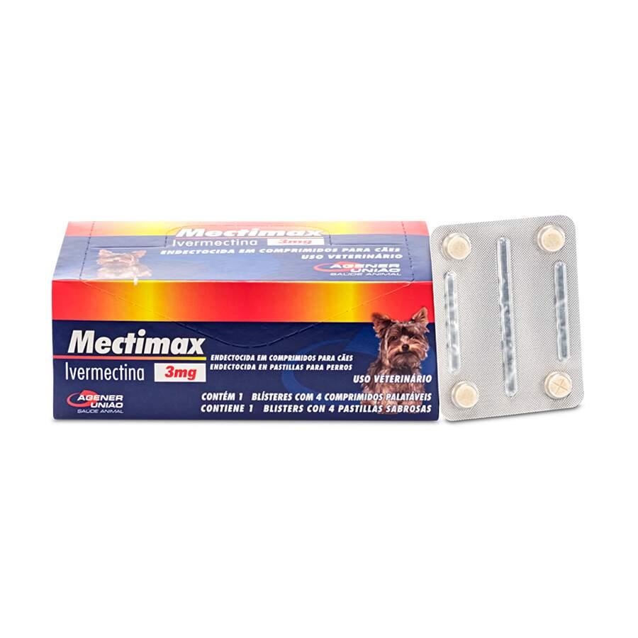 Mectimax Agener União 3mg Ivermectina - 1 blister com 4 comprimidos