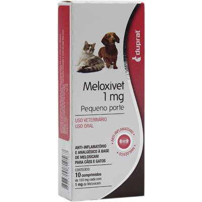 Meloxivet 1mg Anti-Inflamatório 10 comprimidos para Cães e Gatos de Pequeno Porte