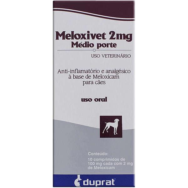 Meloxivet 2mg Anti-Inflamatório 10 comprimidos para Cães de Médio Porte