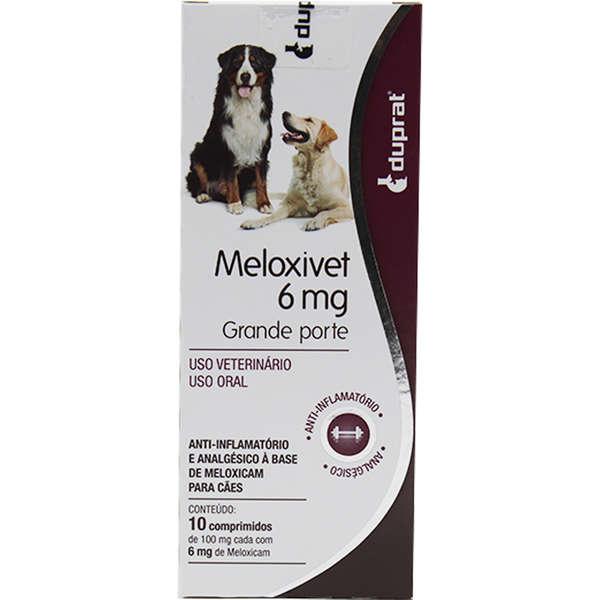 Meloxivet 6mg 10 Anti-Inflamatório Comprimidos para Cães de Grande Porte