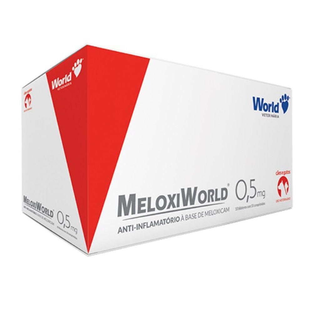 Meloxiworld Anti-inflamatório 0,5mg Meloxican 10 Comprimidos