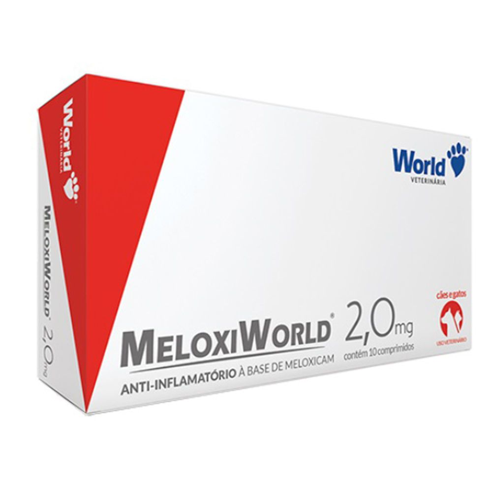 Meloxiworld Anti-inflamatório 2mg Meloxican 10 Comprimidos