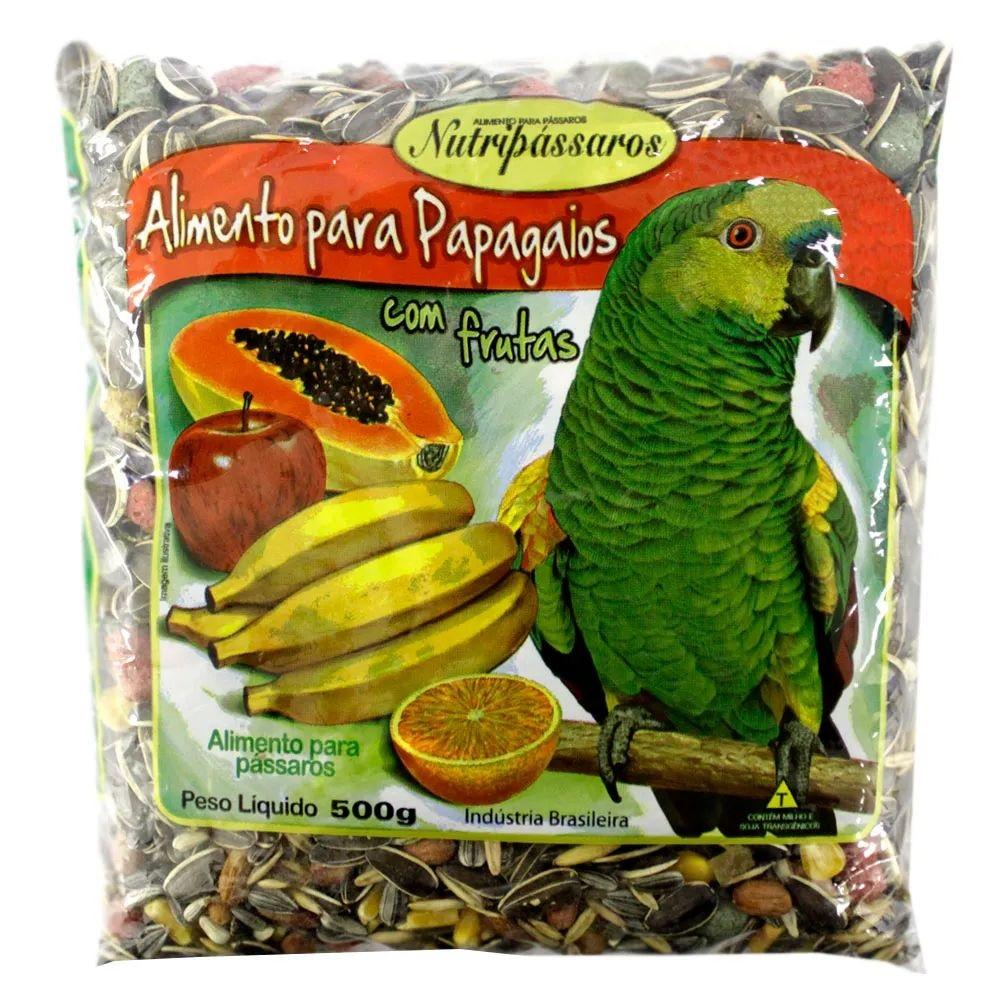 Mistura de Papagaio com Frutas 500g - Nutripássaros