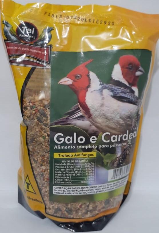Mistura para Galo e Cardeal 500g – Tal Pássaros