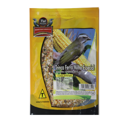Mistura para Trinca Ferro Milho Amarelo 500g  Tal Pássaros