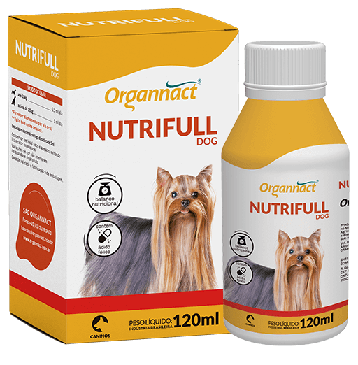 Nutrifull Dog Suplemento Vitamínico para Cães 120 ml Organnact