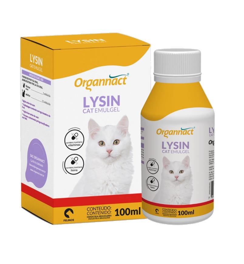 Lysin Cat Emugel Suplemento Vitamínico 100 ml Organnact