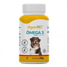 Ômega 3 Dog Suplemento Vitamínico para Cães 1000mg  30 Cápsulas Organnact