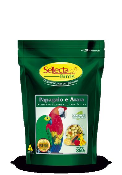 Papagaio e Arara Natural com Frutas 350g - Sellecta Birds