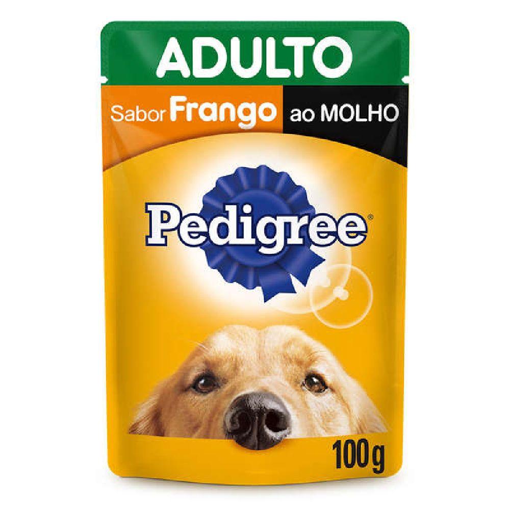 RAÇÃO ÚMIDA SACHÊ PEDIGREE ADULTOS SABOR FRANGO AO MOLHO 100G