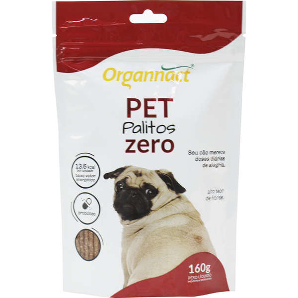 Pet Palitos Zero Suplemento Aminoácido 160 g Organnact