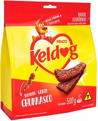 Petisco Bifinho Keldog Sabor Churrasco para Criadores 500g