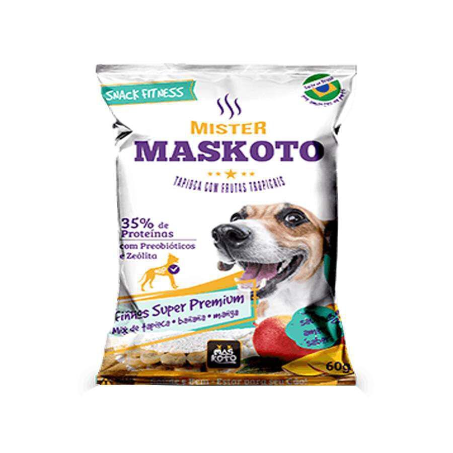 Petisco  Bifinho Maskoto Tapiopca com Banana e Manga para Cães 60g