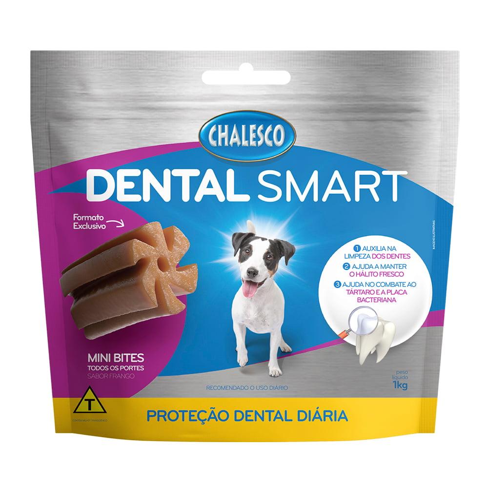 Petisco Dental Smart Frango Mini Bites para Cães 1 Kg Chalesco