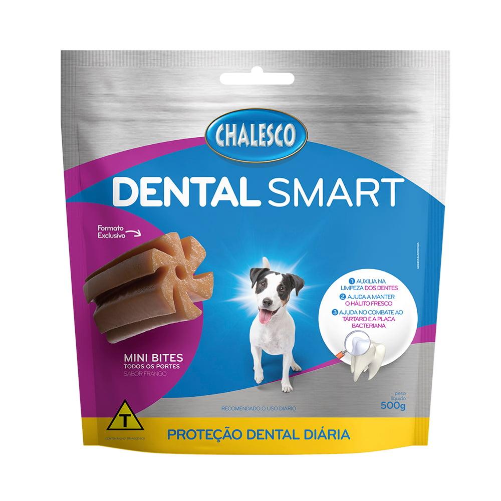 Petisco Dental Smart Frango Mini Bites para Cães 500 g Chalesco