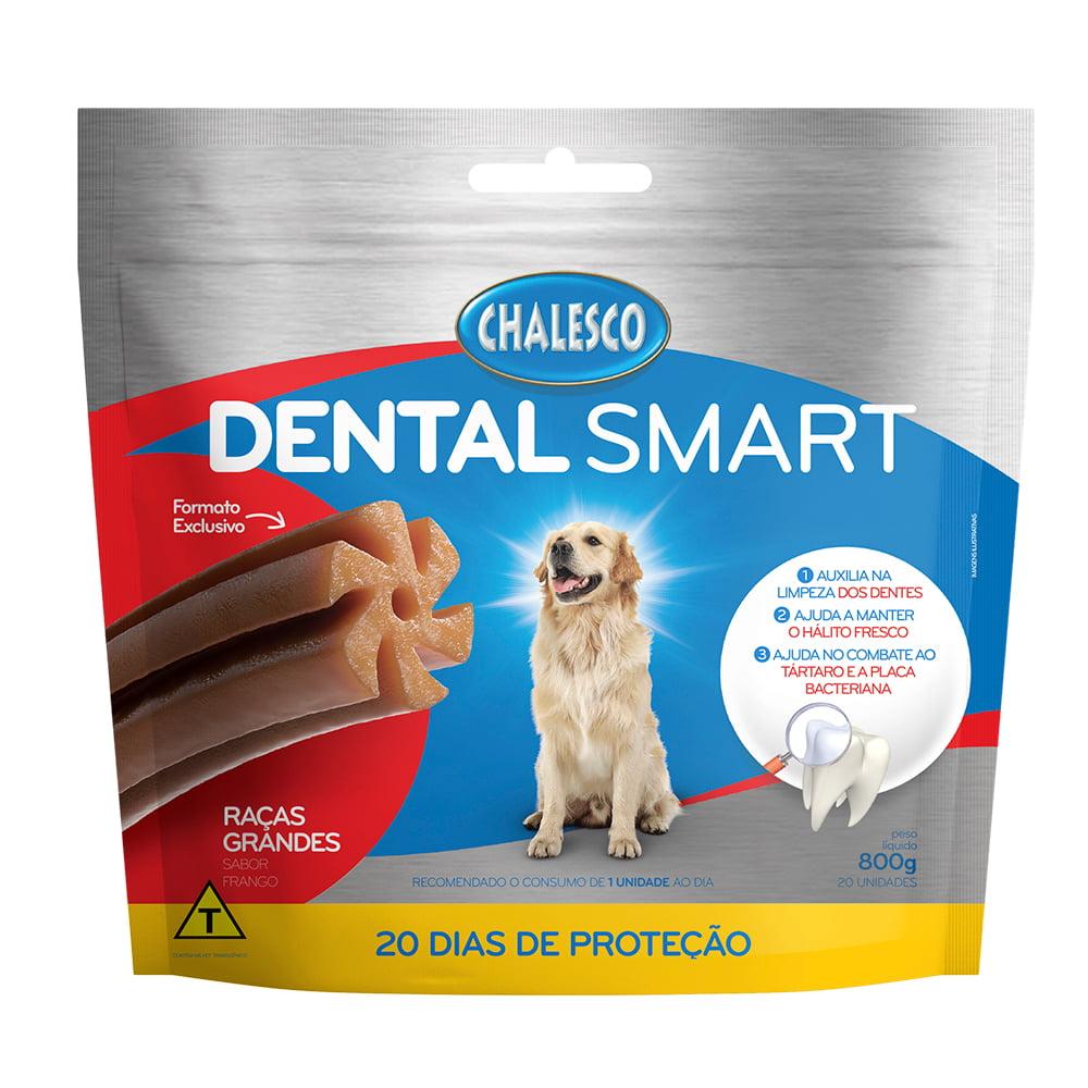 Petisco Dental Smart Frango para Cães de Raças Grandes 800 g  20 Unidades Chalesco