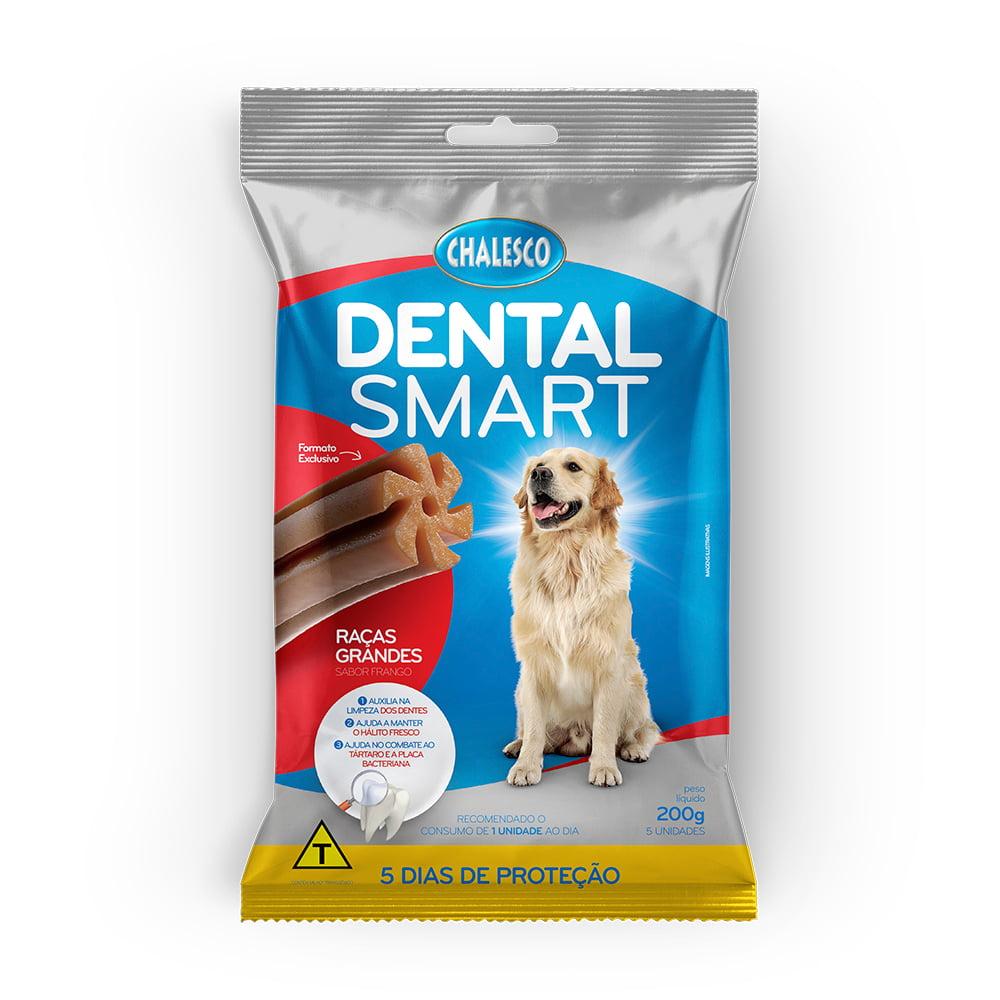 Petisco Dental Smart Frango para Cães de Raças Grandes 200 g  5 Unidades  Chalesco