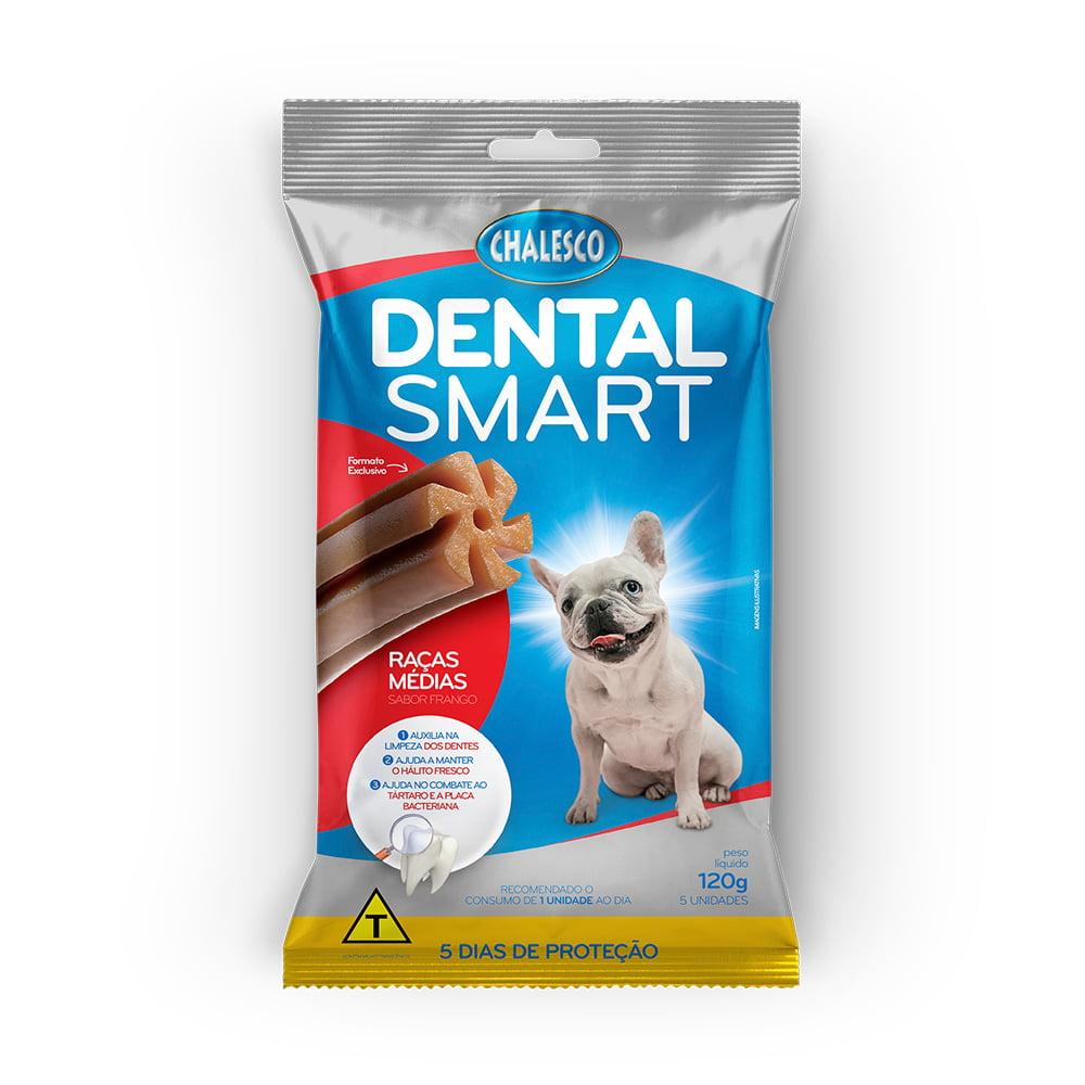 Petisco Dental Smart Frango para Cães de Raças Médias 120 g 5 Unidades  Chalesco