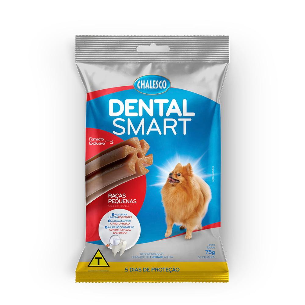 Petisco Dental Smart Frango para Cães de Raças Pequenas 75 g 5 Unidades Chalesco
