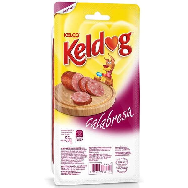 Petisco Kelco Keldog Salsicha de Calabresa Cães 55g