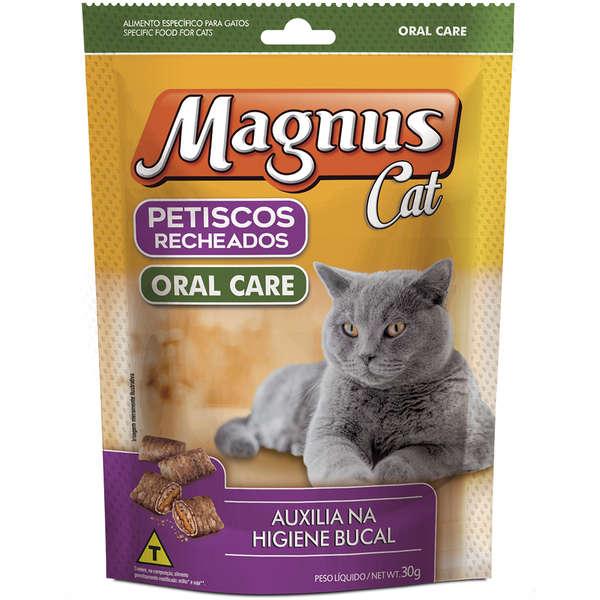 Petisco Magnus Cat Recheados Oral Care para Gatos 30g