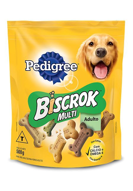 Petisco Biscrok Pedigree para Cães Adultos Multi