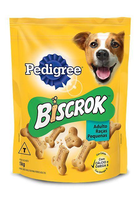 Petisco Biscrok Pedigree para Cães Adultos de Raças Pequenas 1Kg