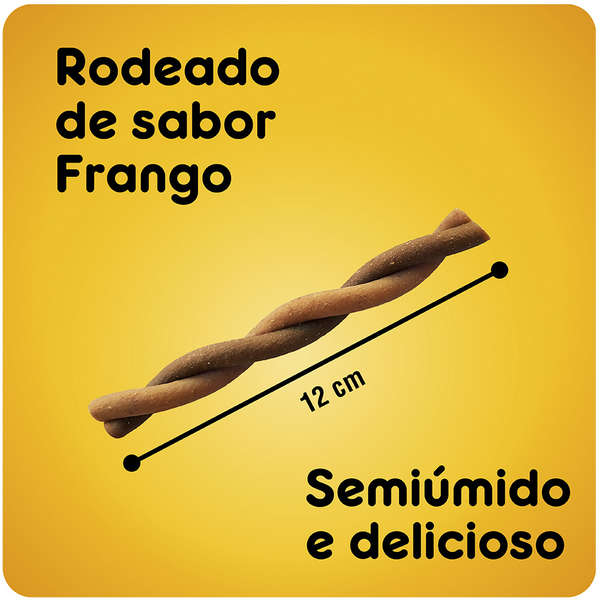Petisco Rodeo Pedigree sabor Carne 70g para Cães Adultos