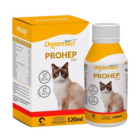 Prohep Cat Suplemento Vitamínico para Gatos 120 ml Organnact